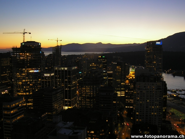 Vancouver, Downtown at Sunset