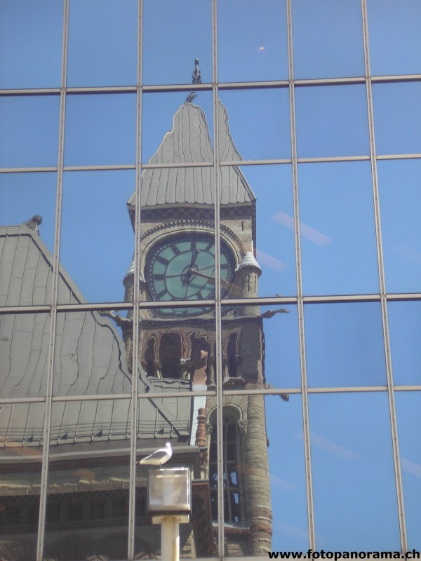 Toronto, The old City Hall in the mirror