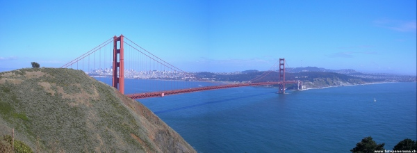 San Francisco, Golden Gate Bridge Panorama