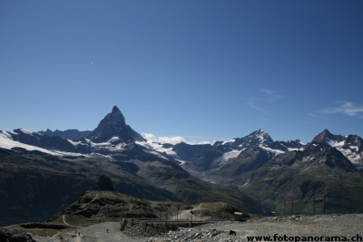 Matterhorn and Gabelhorn seen from Gornergrat